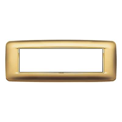 Placca VIMAR Eikon 7 moduli oro satinato