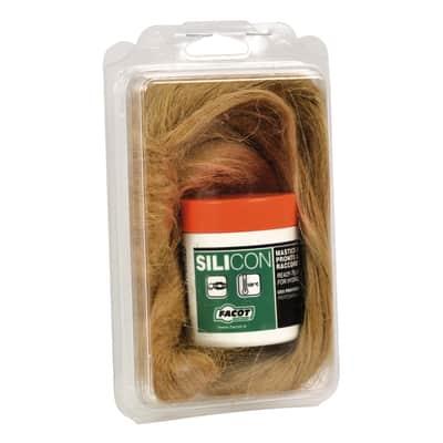 Kit di riparazione pasta sigillante 150 gr + canapa 60 gr  0.15 kg