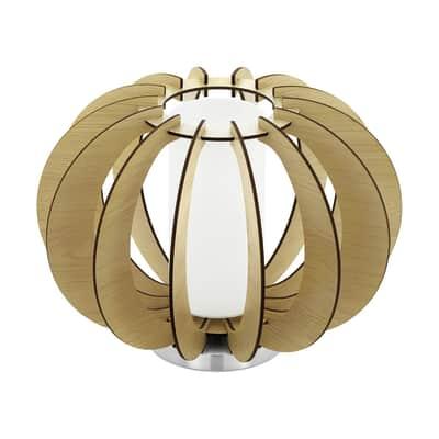 Lampada da tavolo Stellato bianco, marrone, in tessuto, E27 MAX 60W IP20 EGLO