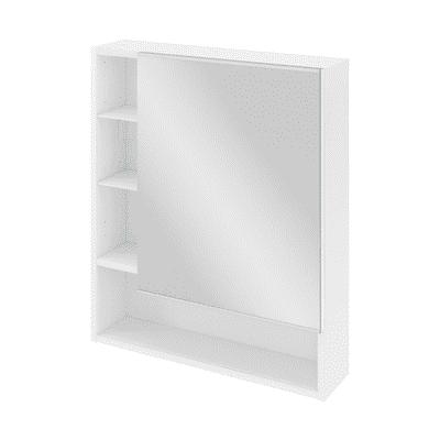 Specchio contenitore Easy L 60 x P 16 x H 70 cm bianco lucido Sensea