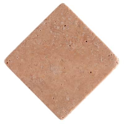 Pietra irregolare Marmo Travertino 10 x 10 cm marrone