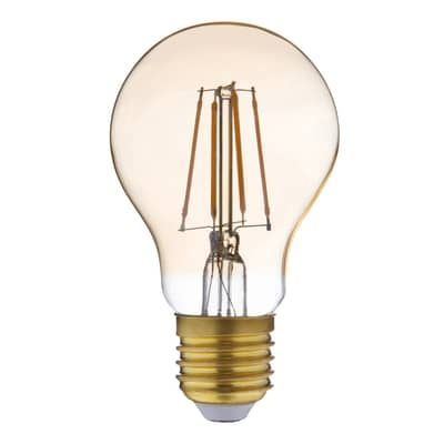 Lampadina LED filamento, E27, Goccia, Ambra, Luce calda, 3.5W=300LM (equiv 28 W), 360° , LEXMAN