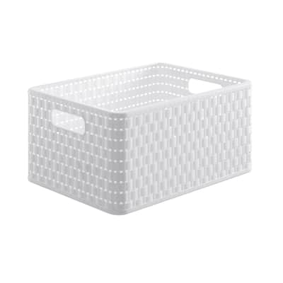 Scatola Country L 27 x H 19 x P 36 cm bianco