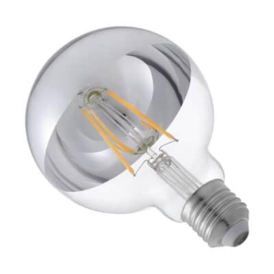 Lampadina LED E27, Globo, Argentato, Bianco, Luce calda, 2.8W=600LM (equiv 48 W), 360° , LEXMAN