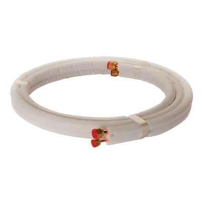 Tubo di rame isolato in kit 1/4 + 3/8 sp. 1 mm 7 m x 700 cm