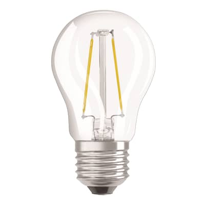 Lampadina LED filamento, E27, Sferico, Trasparente, Luce calda, 2.5W=250LM (equiv 25 W), 300° , OSRAM