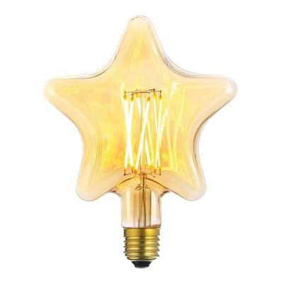 Lampadina LED E27, Varie forme decorative, Ambra, Ambrato, 6W=600LM (equiv 60 W), 360°