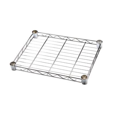 Ripiano in metallo Spaceo Chrome Style+ L 45 x H 4 x P 35 cm grigio cromato