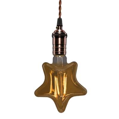Lampadina Filamento LED E27 varie forme decorative bianco caldo 2.5W = 250LM (equiv 25W) 360° LEXMAN