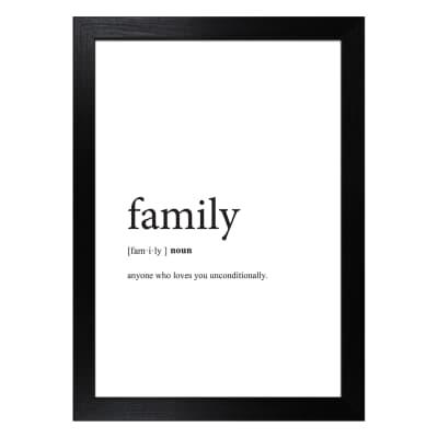 Stampa incorniciata Family 13x18 cm