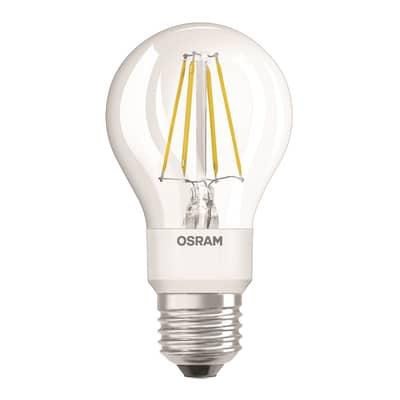 Lampadina LED, E27, Goccia, Trasparente, Luce calda, 7W=806LM (equiv 60 W), 36° , OSRAM