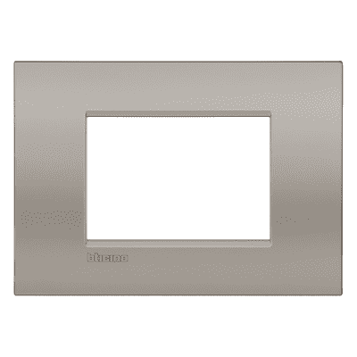 Placca BTICINO Living light 3 moduli marrone sabbia