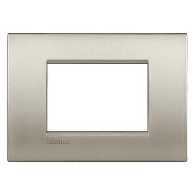 Placca BTICINO Living light 3 moduli grigio titanio