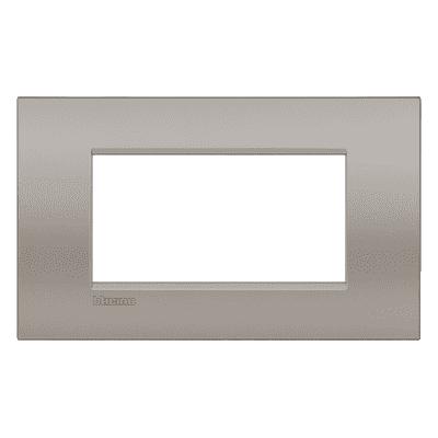 Placca BTICINO Living light 4 moduli sabbia