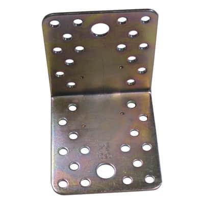 Piastra angolare STANDERS in acciaio zincato L 102 x Sp 3 x H 90 mm