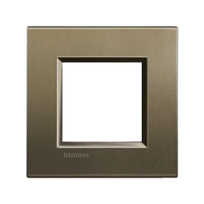 Placca BTICINO Living light 2 moduli square opaco
