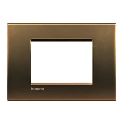 Placca BTICINO Living light 3 moduli bronzo