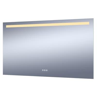 Specchio con illuminazione integrata bagno rettangolare Remix L 120 x H 70 cm SENSEA