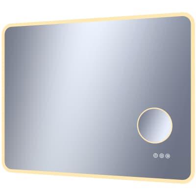 Specchio con illuminazione integrata bagno rettangolare Looka L 90 x H 70 cm SENSEA