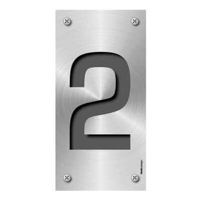 Numero Metal 2 , 7.5 x 15 cm