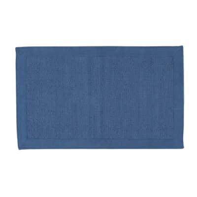 Tappeto Unito in cotone, blu, 50x110 cm