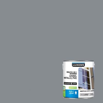 Smalto LUXENS base acqua grigio sasso 3 2.5 L