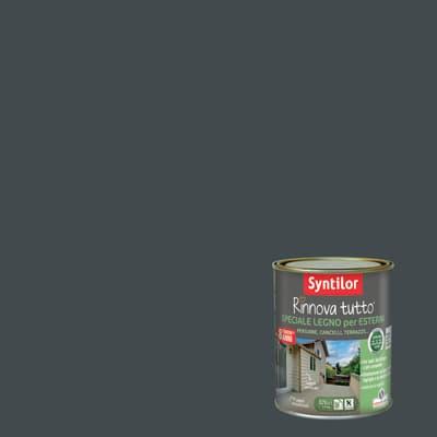 Smalto per legno da esterno base acqua SYNTILOR Rinnova Tutto grigio antracite 2.5 L