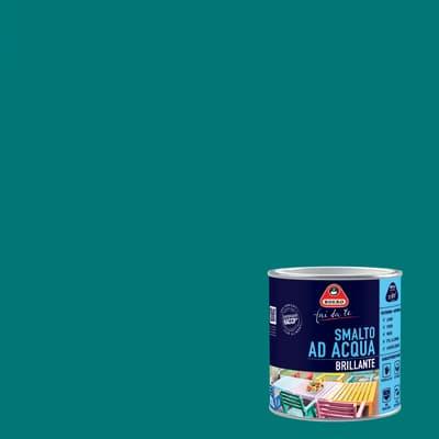 Smalto BOERO FAI DA TE base acqua blu pavone 0.5 L