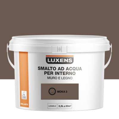 Smalto LUXENS base acqua marrone lucido 2.5 L