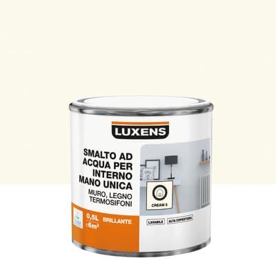 Vernice di finitura LUXENS Manounica base acqua bianco crema 5 lucido 0.5 L