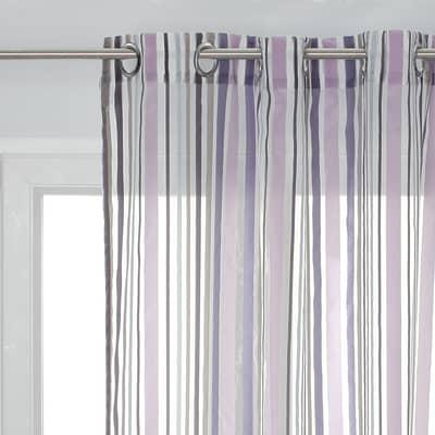 Tenda Alexia viola occhielli 140 x 280 cm