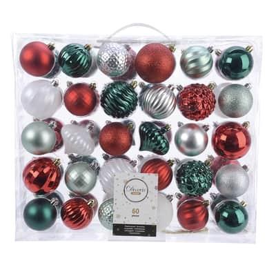 Sfera natalizia in plastica Ø 6 cm confezione da 60 pezzi