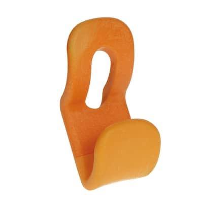 Appendiabiti in plastica 2 ganci arancione