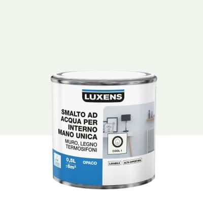 Smalto LUXENS base acqua bianco cool 1 opaco 0.5 L