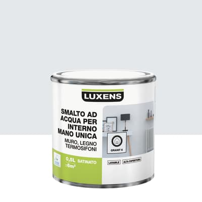 Smalto LUXENS base acqua grigio granito 6 satinato 0.5 L