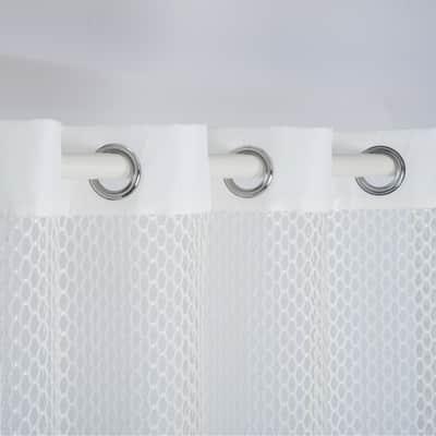 Tenda Hexa bianco occhielli 140x280 cm