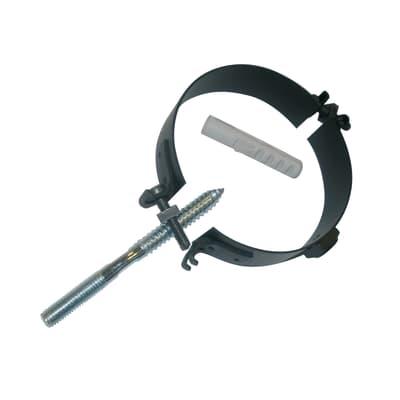 Collare tubo Collare con tassello nero Dn 80 mm  in inox 304 (buona resistenza)