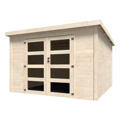 Casetta da giardino in legno Oleandro,  superficie interna 8.65 m² e spessore parete 28 mm