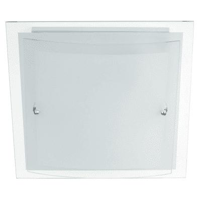 Plafoniera classico Dop bianco, in vetro, 30x30 cm, 2  luci
