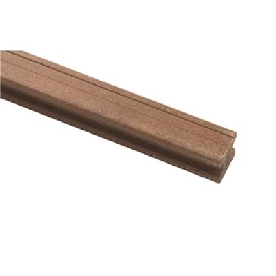 Travetto da pavimento COMPOSITE PREMIUM in pvc 5 x 5 x L 240 cm