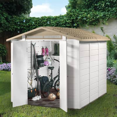 Casetta da giardino in pvc Tuscany 240 6 m² spessore 20 mm