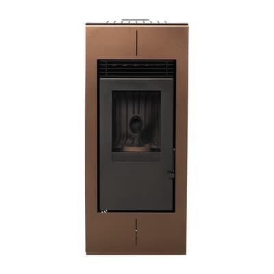 Stufa a pellet ventilata Platinum 11 kW bronzo