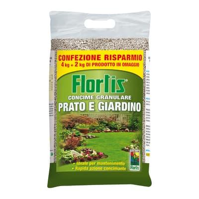 Concime per il prato granulare FLORTIS 4+2 Kg