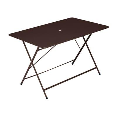 Tavolo da pranzo per giardino rettangolare Cassis con piano in acciaio L 76 x P 120 cm