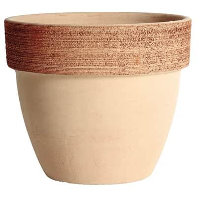 Vaso Palladio graffiato in terracotta colore impruneta H 12 cm, Ø 14 cm