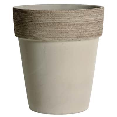 Vaso Alto Vulcano in terracotta colore grigio H 26 cm, Ø 23 cm