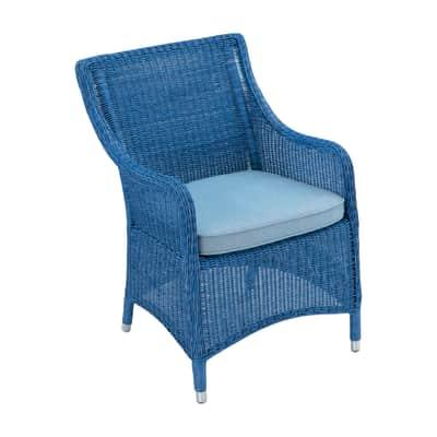 Poltrona  in alluminio Carolina colore blu