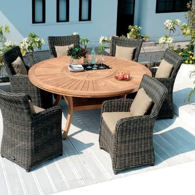 Tavolo da giardino rotondo Australia con piano in legno Ø 180 cm