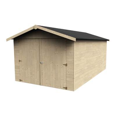 Garage in legno Garove DECOR ET JARDIN 12.36 m², Sp 15 mm