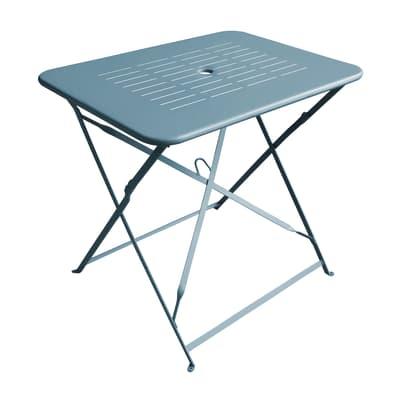 Set tavolo e sedie Dolly in metallo blu 2 posti
